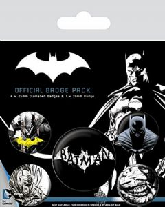 Batman Dark 5 Pin Badges in Pack (py)
